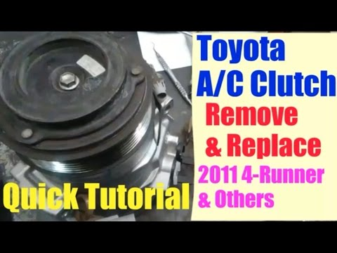 Toyota A/C Clutch Remove/Install Quick Tutorial