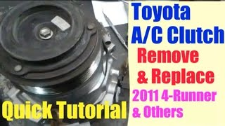 Toyota A/C Clutch Remove/Install Quick Tutorial