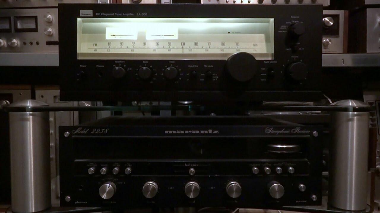 Marantz 2238 VS Sansui TA-500 soundtest - vintage stereo