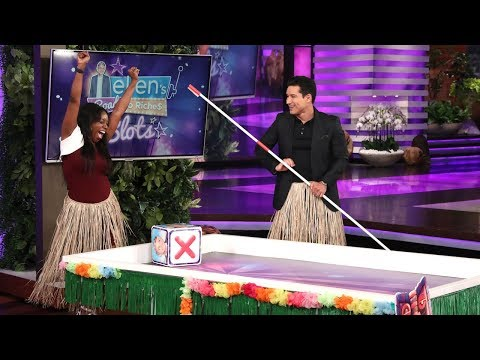 Mario Lopez Helps a Lucky Fan Roll Her Way Down Ellen's Road to Riches!
