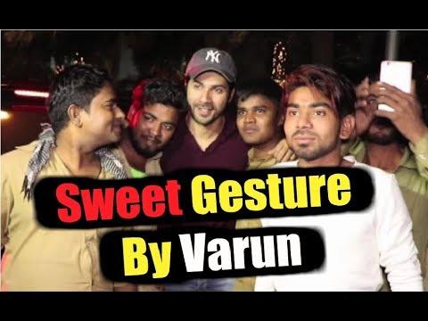 Varun Dhawan Meets Auto Rickshaw Walas Outside Restaurant