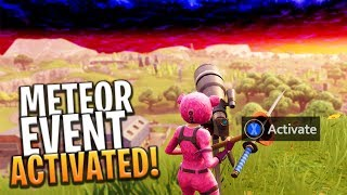 THE SECRET METEOR EVENT HAS BEEN ACTIVATED! - Fortnite: Battle Royale