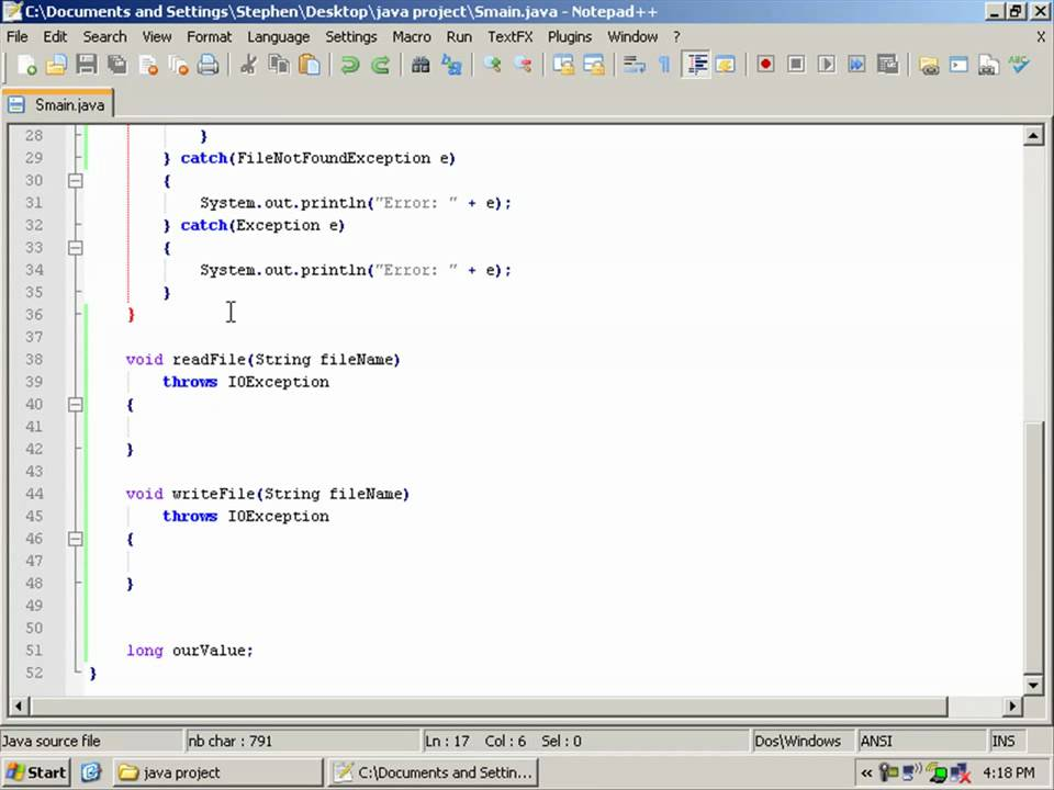 Java tutorial 6 - java input out (io) file reader / writer