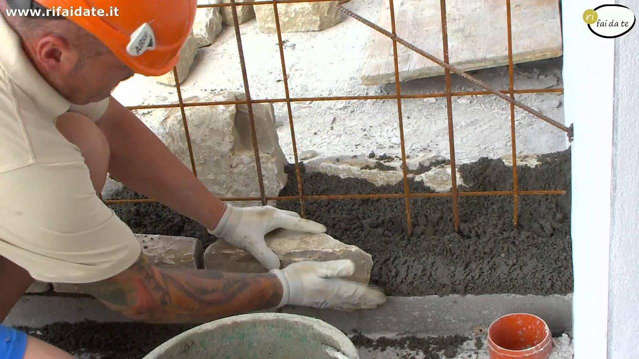 Costruire un muro in pietra parte 3 - YouTube