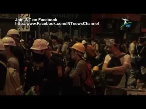 "2014.10.20 - ""Occupy Hong Kong"" (02:30) An uneasy calm in Kowloon after a night of drama"
