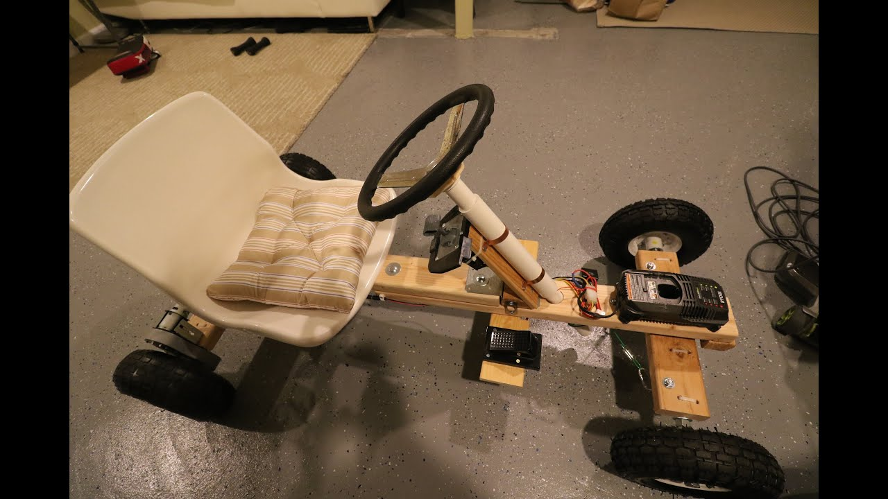 How to build 15 go kart steering with pvc pipes youtube for Build as you go house plans