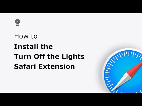 🔵How to install the Turn Off the Lights Safari extension in the Apple Safari web browser?