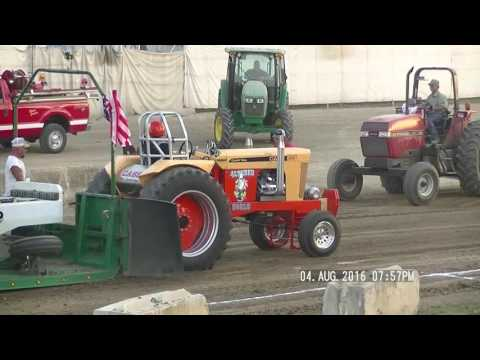 V8 HOT ROD TRACTORS PREBLE CONTY  OHIO FAIR PULL AUGUST 4, 2016