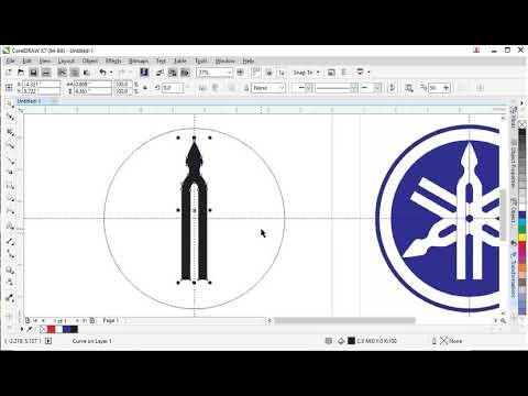 Hướng dẫn CorelDraw X7 – vẽ logo Yahama