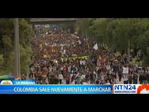 Nueva Jornada Del Paro Nacional En Colombia