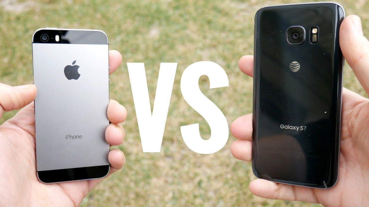 Iphones S7 Vs Samsung S74k