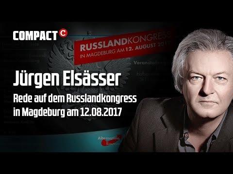 Jürgen Elsässer auf der AfD-Russlandkonferenz in Magdeburg