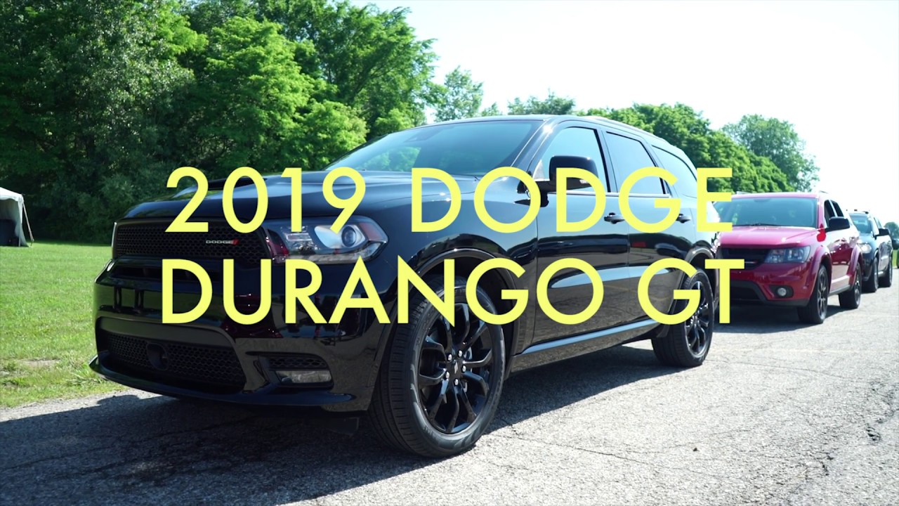 the 2019 dodge durango gt is a murdered out mom mobile