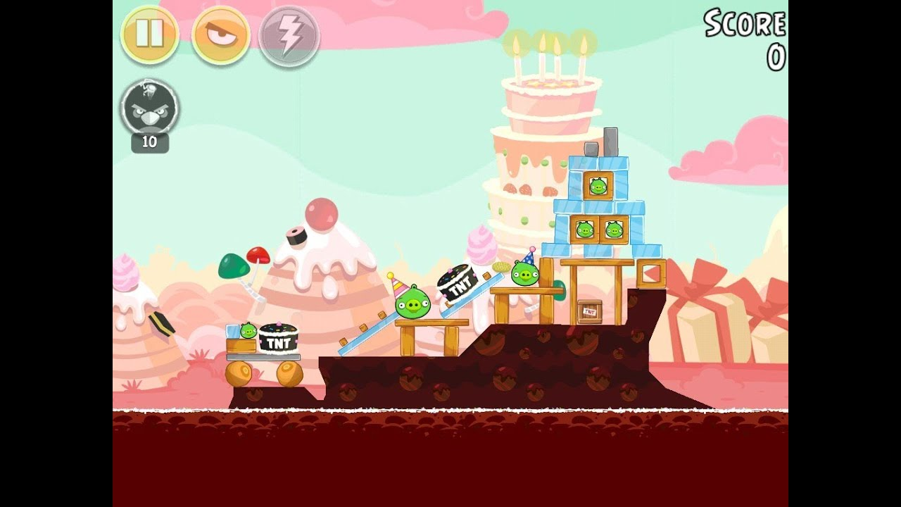 Angry Birds Birdday Party Cake 4 Level 6 Walkthrough 3