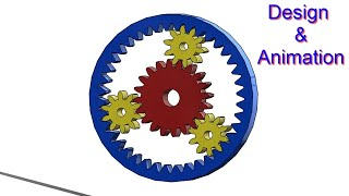 SOLIDWORKS TUTORIAL #34 || Design of Epicyclic / Planetary gear drive with motion analysis.