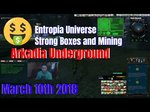 Mining Run and Strong Box Opening (Random Entropia Universe Talk)