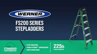 Werner Ladder - FS200 Series Fiberglass Step Ladders