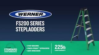 Werner Ladder - FS200 Series Fiberglass Step Ladders