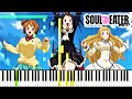 Soul Eater Not! OP -  Monochrome | Piano Tutorial, ソウルイーターノット!【ピアノ】