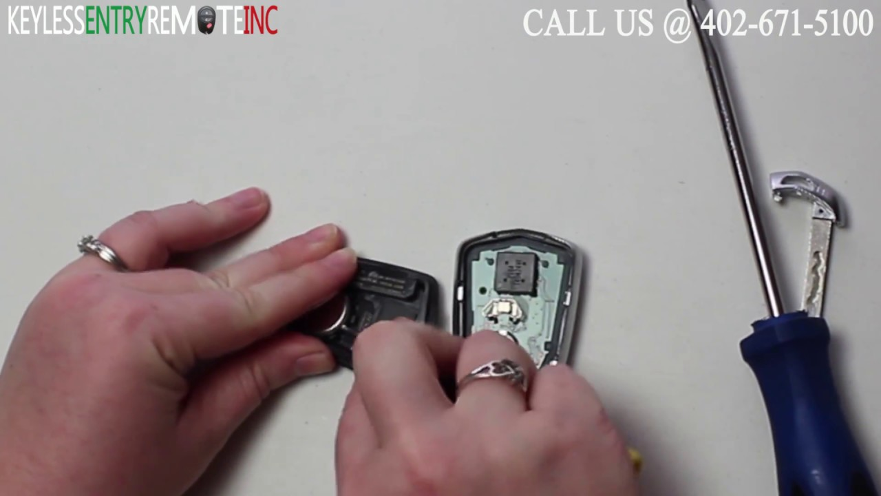 How To Replace Cadillac Cts Key Fob Battery 2014 2016 Youtube