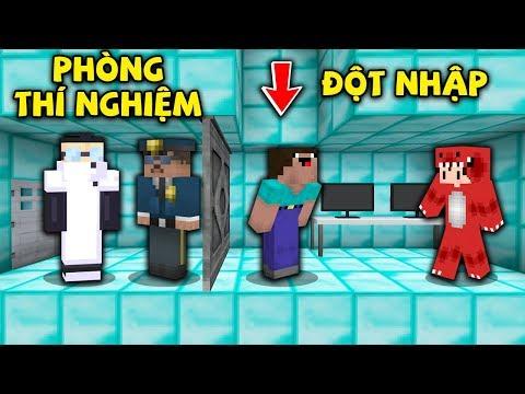 Rex Và Noob Thử Thách Đột Nhập Và Giải Cứu Noob Công Nghệ Khỏi Tiến Sĩ Alibubu Trong Minecraft