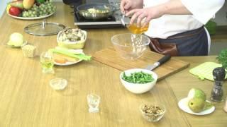 """""""Блюдо дня"""". (Тёплый салат со стручковой фасолью и медовой заправкой)"""