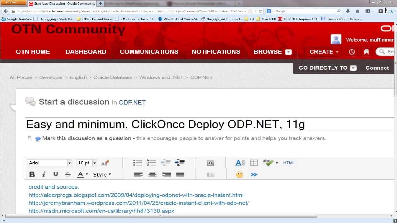 ClickOnce ODP NET Deployment