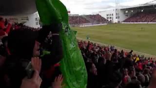 Nimes Olympique - Montpellier Hérault Sport Club   L'ambiance au stade des Costières