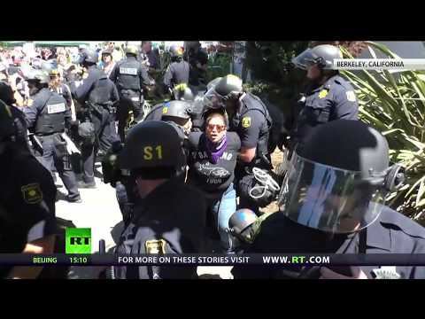 Growing Division: Antifa clash with right-wing supporters at Berkeley rally