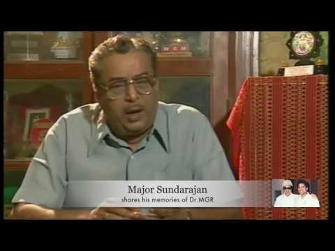#MGR 100 - Major Sunderajan shares his memories with Dr.MGR
