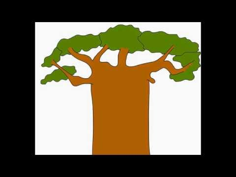 Baobab Monkey-bread tree How to draw a easy? Как нарисовать