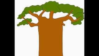 Baobab Monkey-bread tree How to draw a easy? Как нарисовать просто? (Баобаб)