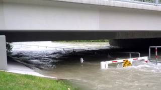 Elbow River At 25th Ave Bridge, Calgary 3pm.