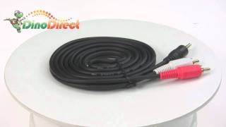 CHOSEAL 1.8m 3.5mm Male to 2RCA Male Audio Cable  from Dinodirect.com