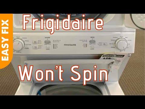 Frigidaire Laundry Center Won T Spin Youtube