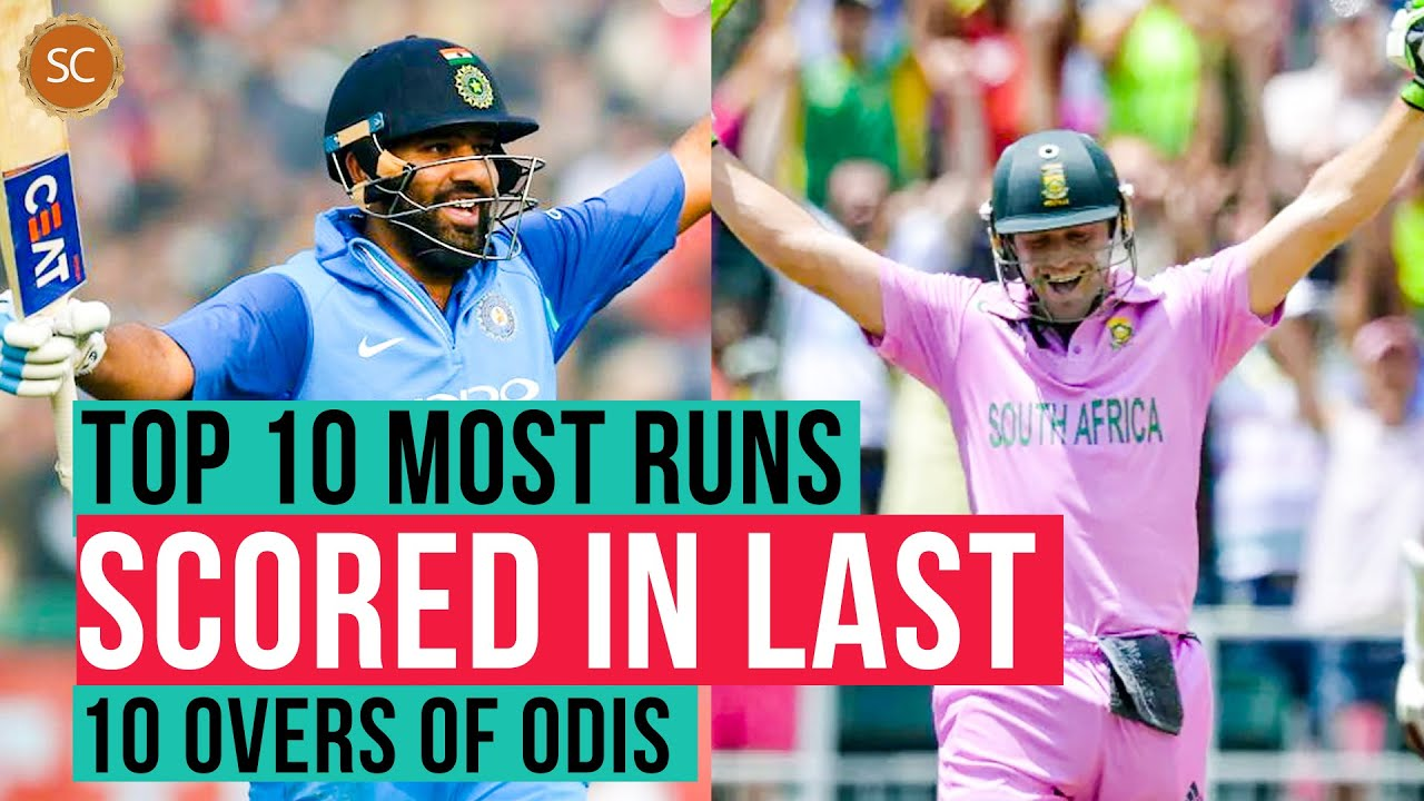 Top 10 Most runs scored in the last 10 overs of ODIs | Simbly Chumma