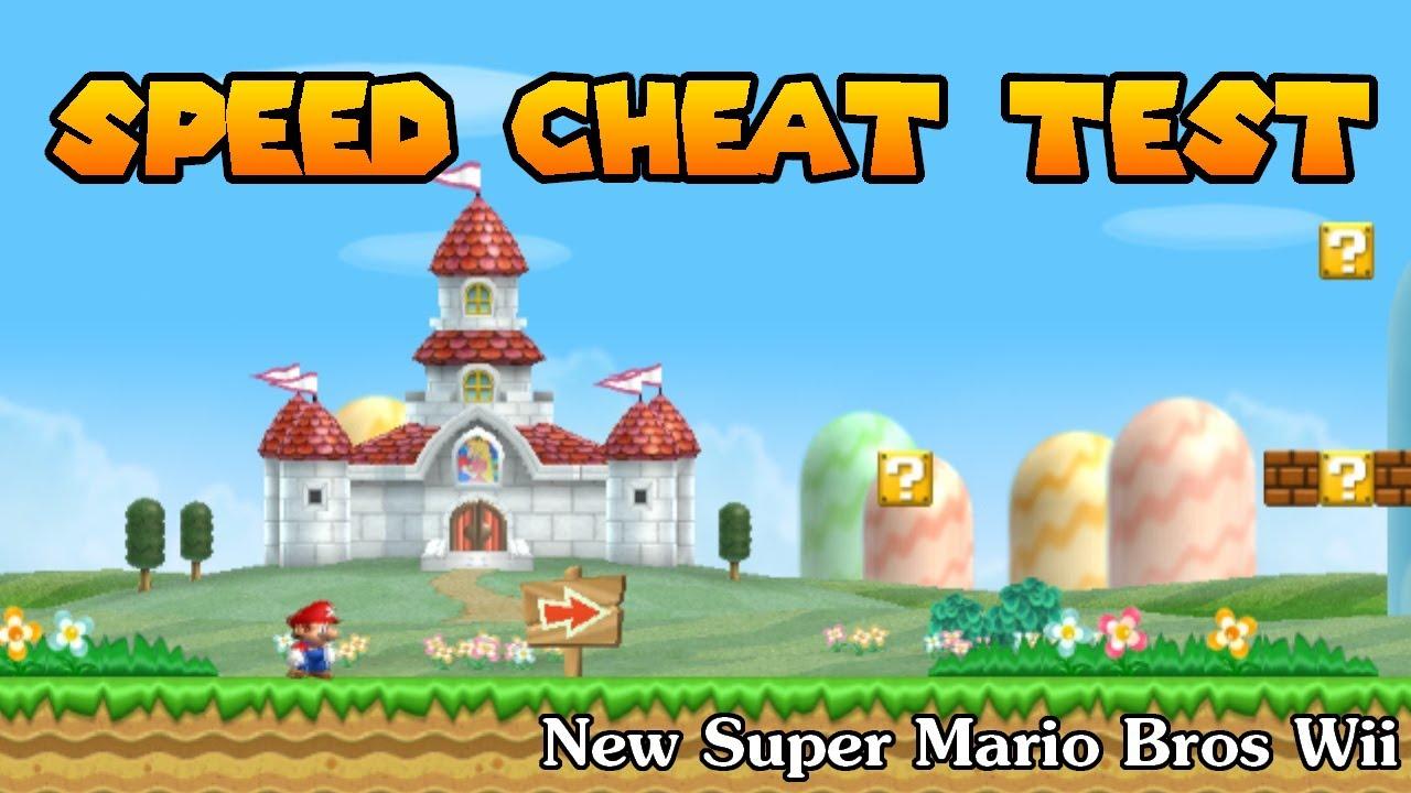 Speed <b>Cheat</b> Test | New <b>Super Mario Bros Wii</b> - YouTube