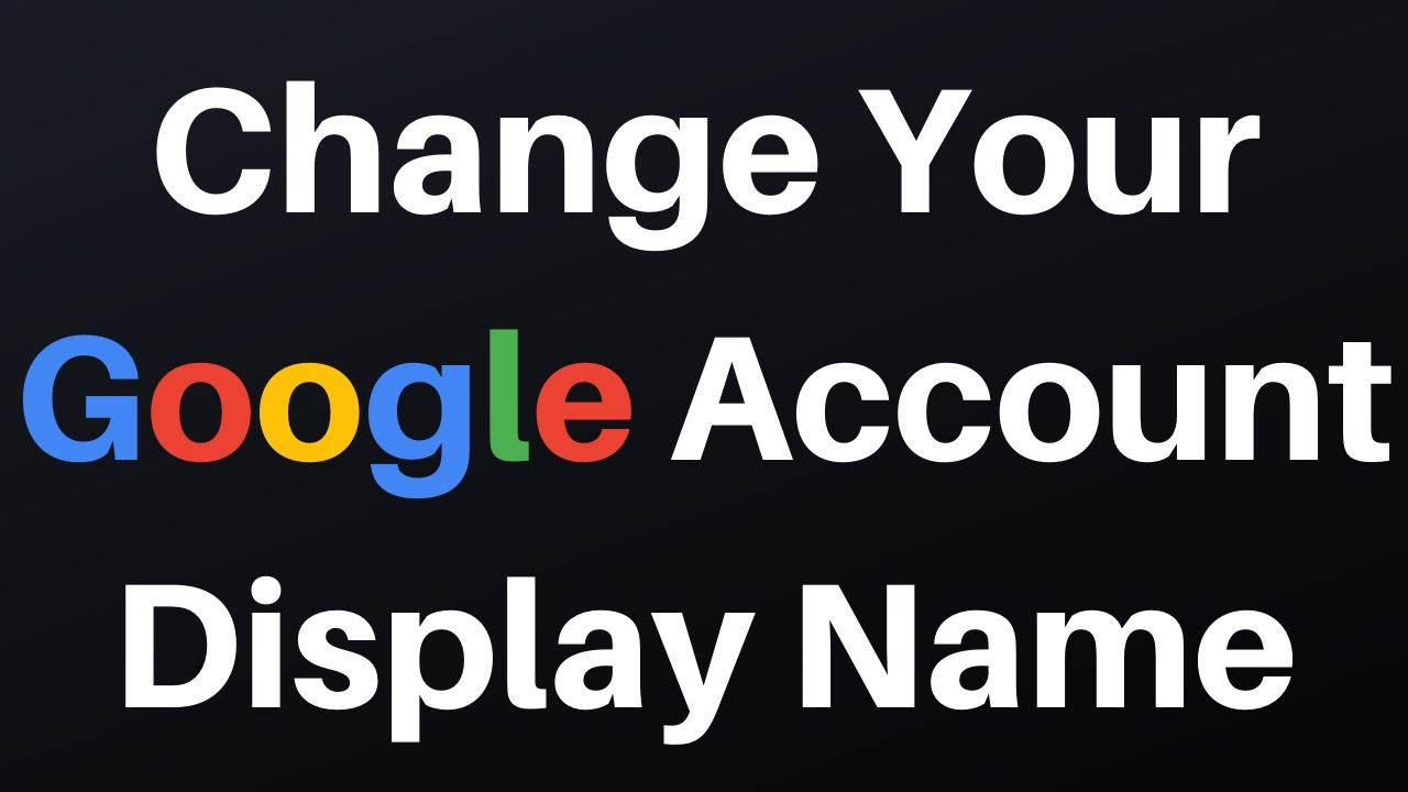 Account nickname youtube google How to