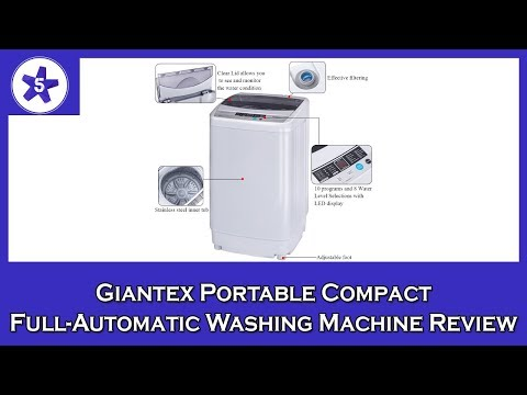 Giantex Portable Compact Full-Automatic Washing Machine Review