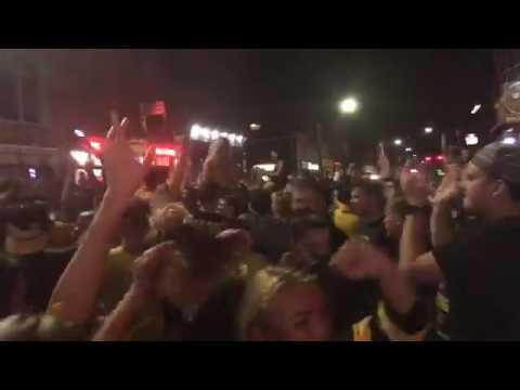 Pittsburgh celebrates the Penguins' Stanley Cup victory on the South Side.