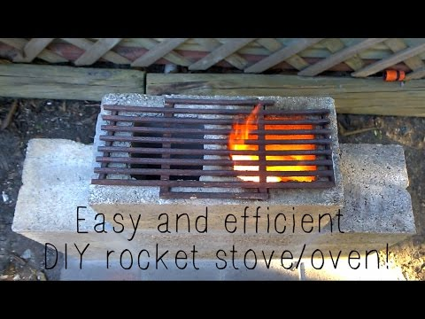 Super easy DIY rocket stove/oven!