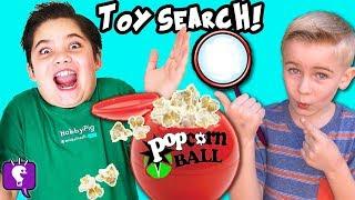 SCAVENGER Toy Hunt! POPCORN Balls Flavor Challenge w/HobbyPig + HobbyFrog HobbyKidsTV