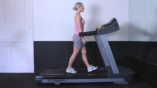 Walking on treadmill