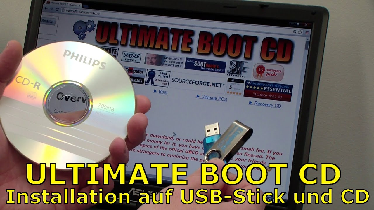 ultimate boot cd iso download und installation auf usb