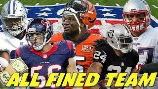 "ALL ""NFL FINED"" TEAM! SUPERSTARS ALL AROUND!"