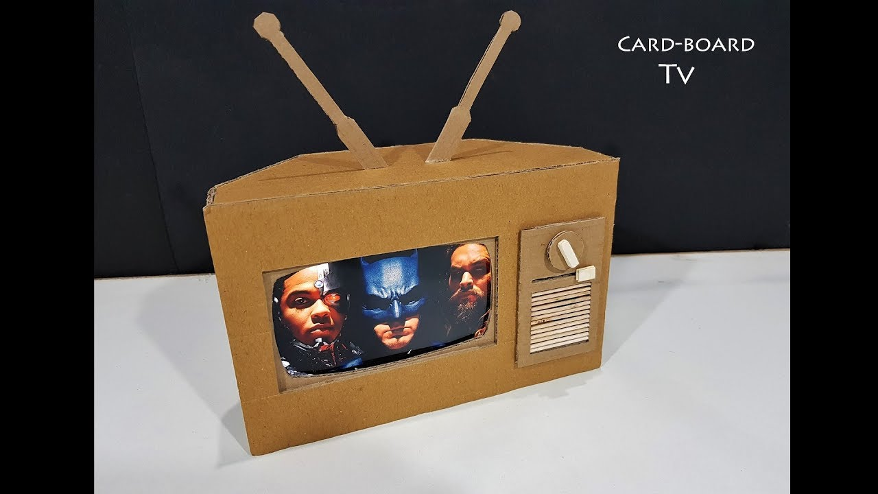 How to make tv from cardboard amazing working cardboard for How to make a letterbox out of cardboard