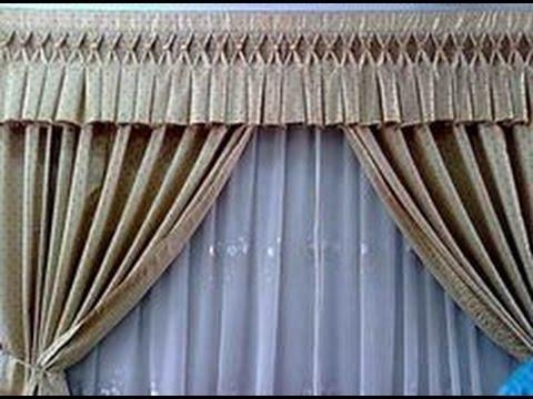 como hacer cenefas para cortinas youtube