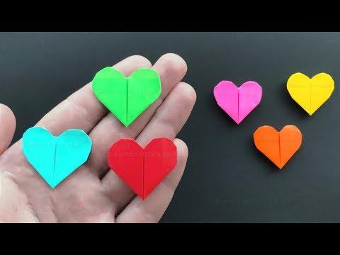 Origami Herz basteln mit Papier - DIY Bastelideen für Geschenke - Einfaches Herz falten