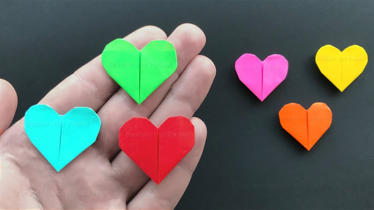Basteln Mit Papier Anleitung Origami Heart How To Make An Easy Paper Heart Mother S Day Crafts