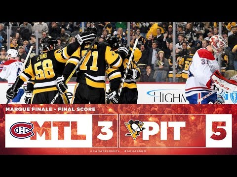 Canadiens vs Penguins 2017-18 Match 74